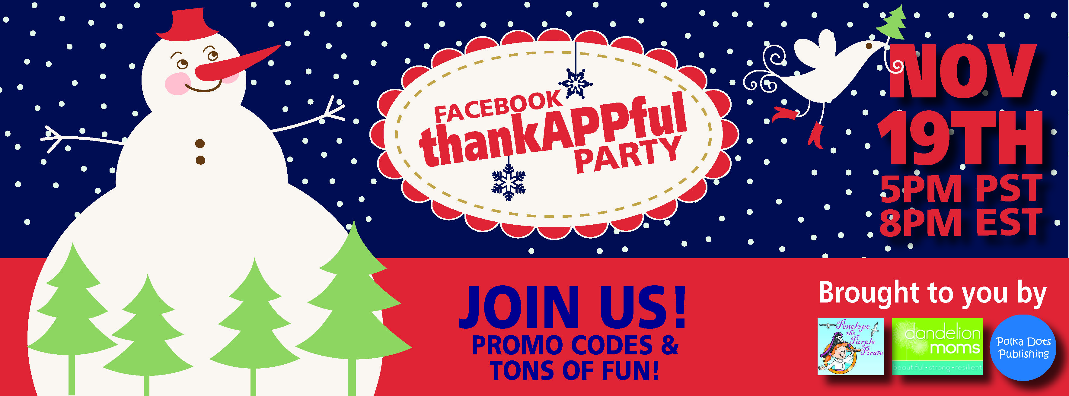Gobble Gobble! Thanksgiving Facebook Party