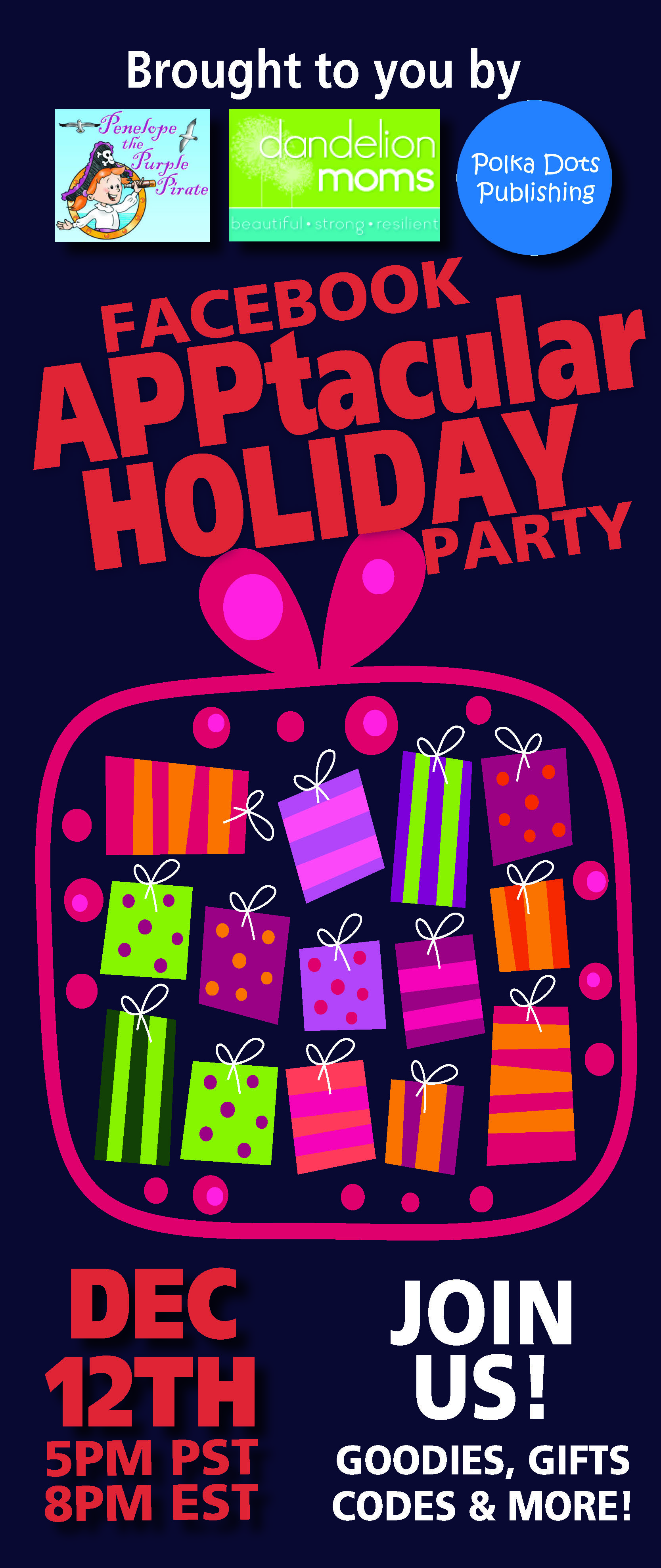 Holiday Facebook Party on December 12th