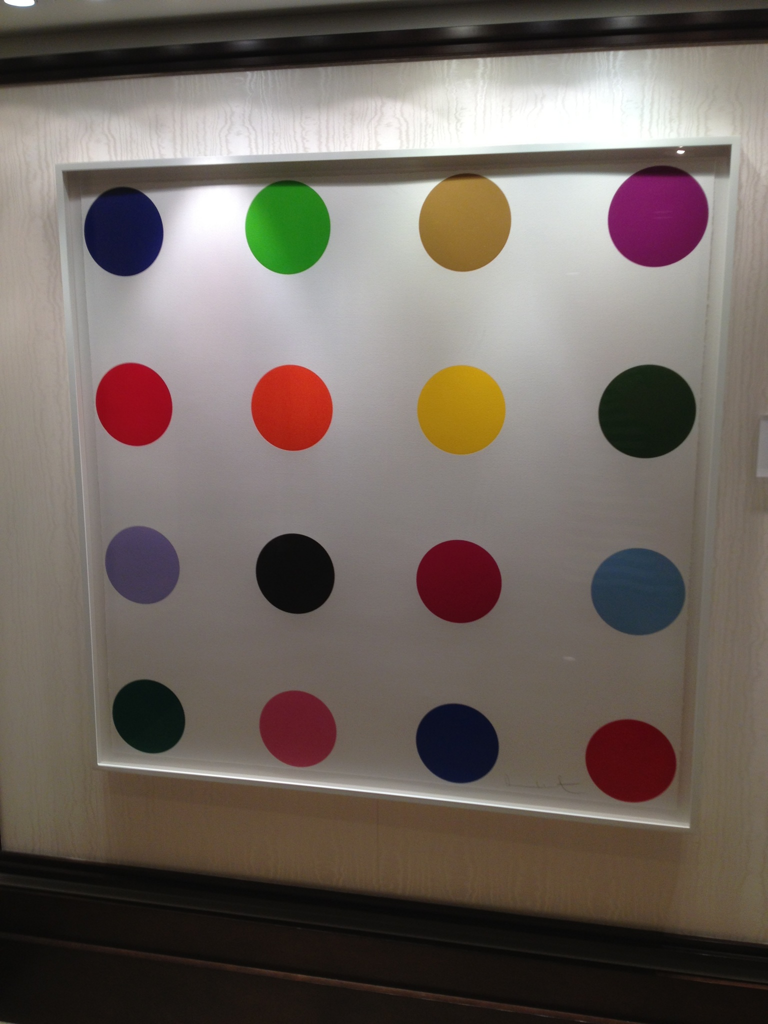 Instagram of the Week::  Spot Paintings by Damien Hirst