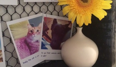 DIY Antique Photo Shelf