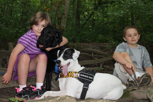 June 2013 Service Dog and family pic for Dandelionmomdotcom #7