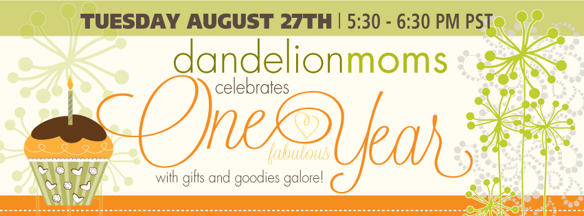 Dandelion Moms Celebrates It's One Year Birthday August 27th!
