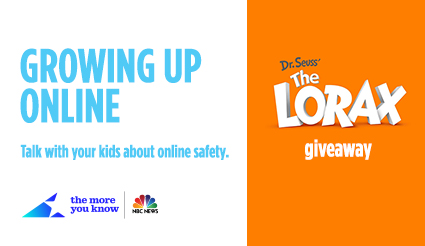 Growing Up Online and Dr. Seuss' THE LORAX DVD & Blu-ray Combo Pack Giveaway