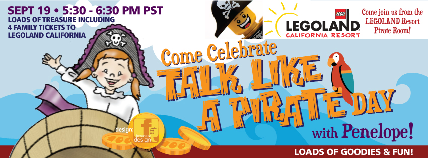 Talk Like a Pirate Facebook Party September 19th