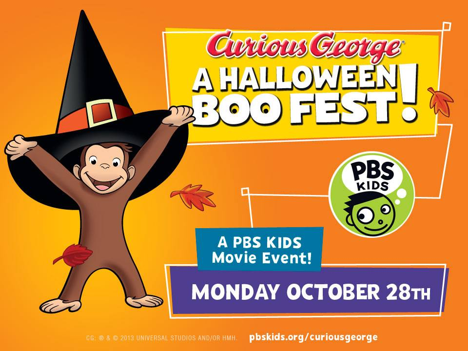 families will be able to stream clips from curious george a halloween boo fest for free on the pbs kids video app online at pbskidsorgvideo and on the