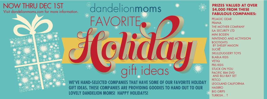 Dandelion Moms Favorite Holiday Gift Ideas Giveaway