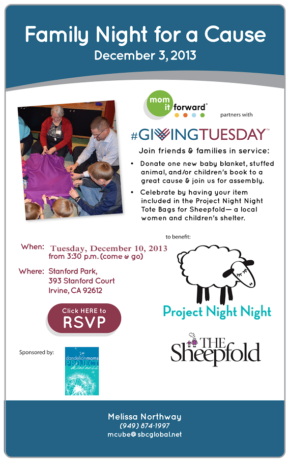 Dandelion Moms Project Kindness Joins #Giving Tuesday in December