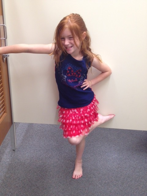 This was one of my favorite outfits!  My daughter is hamming it up!
