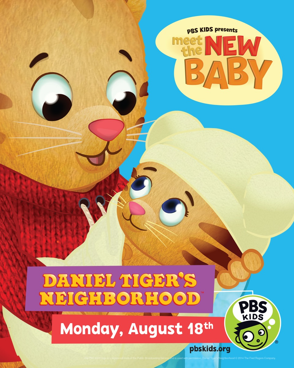 It\'s A Girl! PBS Kids Daniel Tiger Welcomes A Baby Sister!
