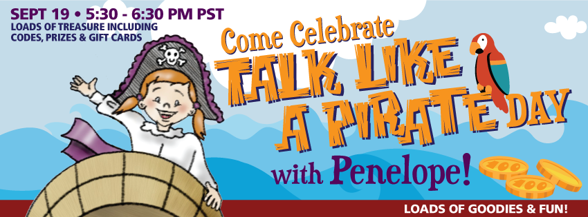"Join Our ""Talk Like A Pirate"" Facebook Party on September 19th"