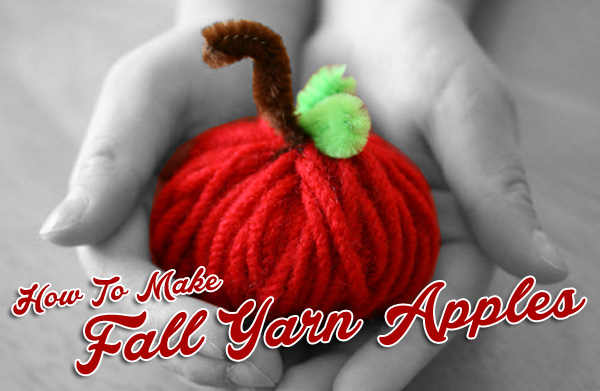 How To Make Fall Yarn Apples