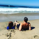 Trying to beat the heat in Newport newportbeach beach familyhellip