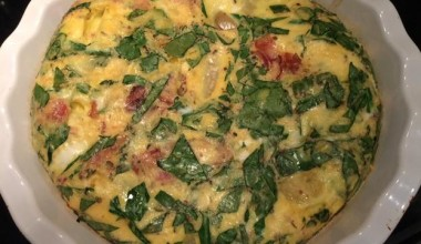 What's For Dinner? Spinach, Cheese and Bacon Frittata