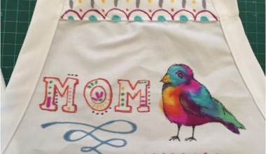 DIY Mother's Day Gift :: A Sharpie Art Apron