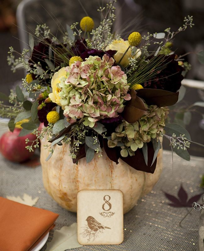 6 gorgeous and unique fall centerpieces for Fall wedding centerpieces