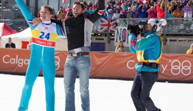 Interview with Hugh Jackman and Taron Egerton of Eddie the Eagle