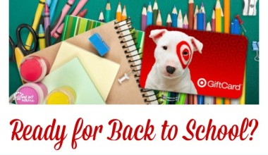 Target Back-to-School $100 Gift Card Giveaway!