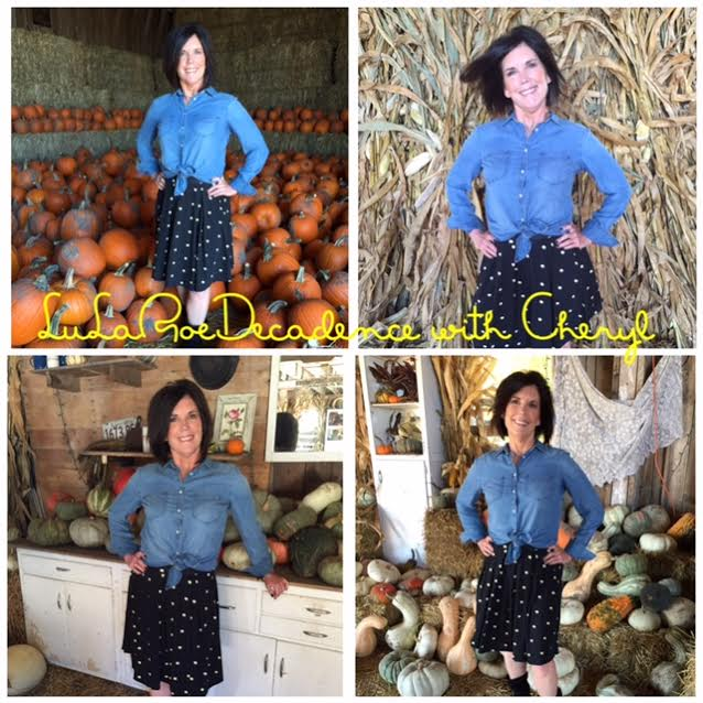 Cheryl in LLR (beautiful pumpkin patch and outfit for the soon-to-be Autumn weather)!