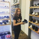 Kates stoked to be at undefeatedinc in Santa Monica! sneakerhead