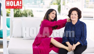 Salma Hayek and her Mother talk Stage Fright and Parenting in HOLA!