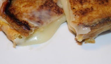 Ooey Gooey Muenster & Havarti Grilled Cheese on Brioche (w/Dijon mustard)