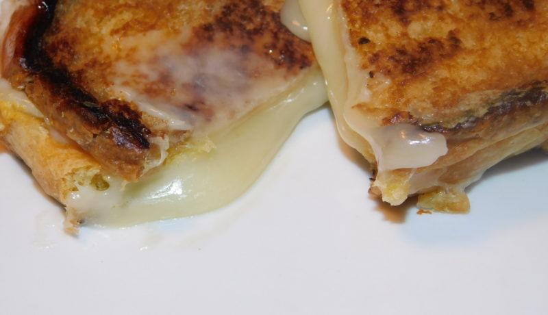 Ooey Gooey Muenster & Havarti Grilled Cheese on Brioche (w/Dijon mustard)