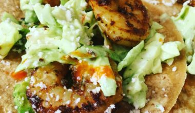 Spicy Shrimp Tacos with Avocado Cilantro Lime Slaw