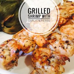 Grilled Shrimp with Garlic and Herbs