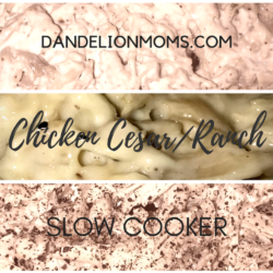 Slow Cooker Chicken Cesar (and Ranch) Sandwiches