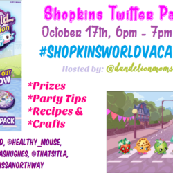 Join Our SHOPKINS™: WORLD VACATION Twitter Party October 17th!