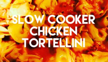 Slow Cooker Chicken Tortellini