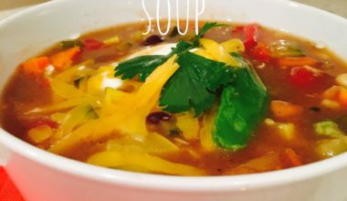 Slow Cooker Vegetarian Tortilla Soup