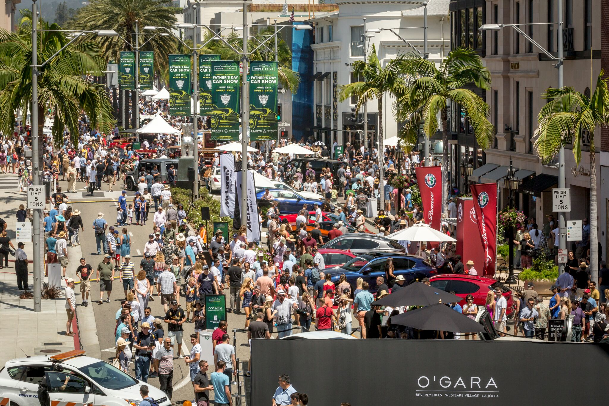 The Rodeo Drive Concours DElegance Celebrates Years Of Fathers - Beverly hills car show
